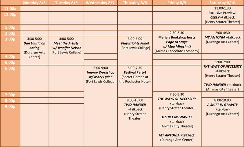 Events 2019 - Durango PlayFest