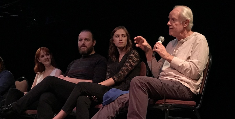 Actors during talkback